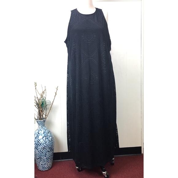 Ava & Viv Dresses & Skirts - Ava & Viv Black Textured Print Sleeveless Dress
